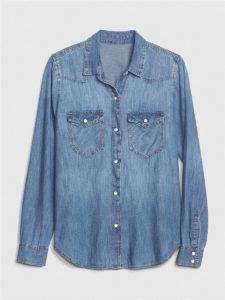 Топ 10 лучших женских джинсовых рубашек