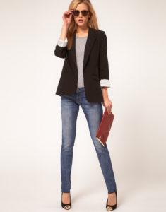 Женский пиджак с джинсами: модные и стильные сочетания