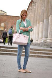 джинсы с балетками