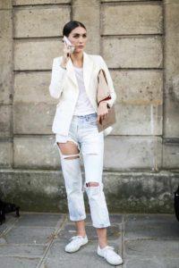 пиджак к рваным джинсам