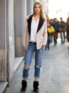 пиджак с ботинками