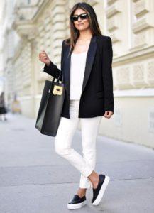 пиджак с лоферами
