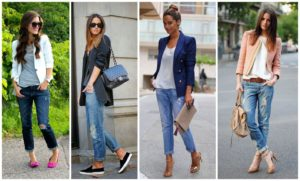 с какой обувью носить джинсы бойфрэнды