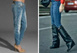 сапоги под джинсы