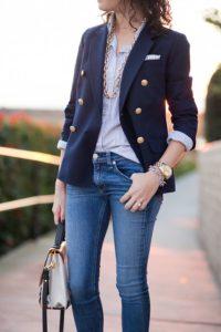 женсктй пиджак с джинса