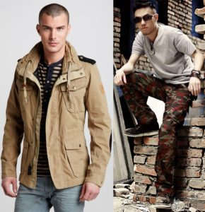 стиль милитари в одежде мужчин