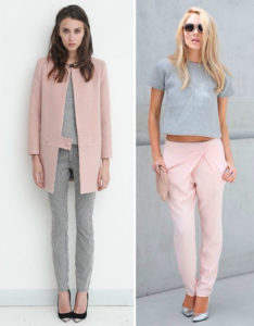 Сочетание серого цвета в одежде: примеры стильных образов+ 80 фото
