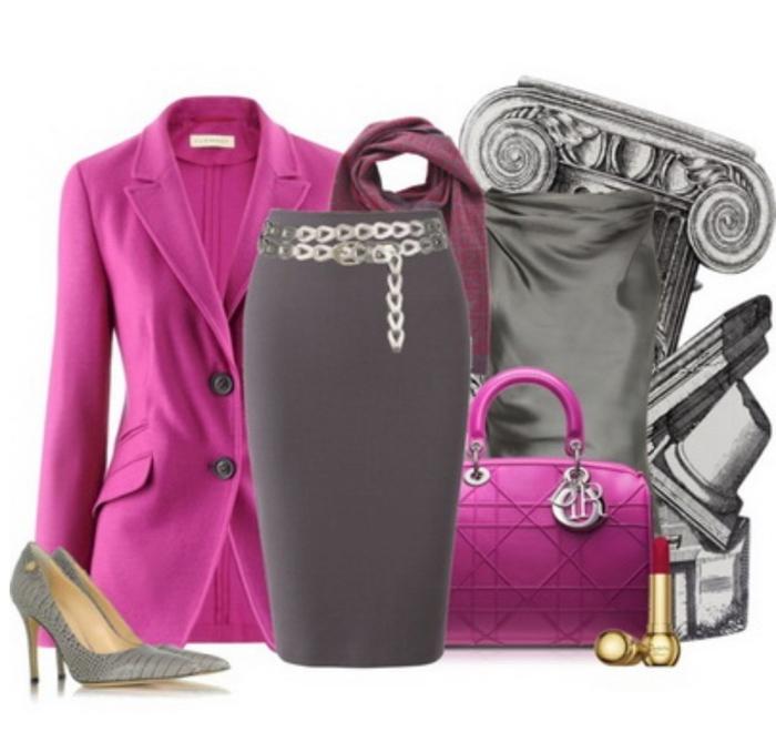 оцените с каким цветом сочетается цвет фуксии в одежде фото клятва