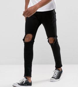 Мужские рваные джинсы: фото стильных моделей