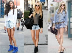 Женские джинсовые шорты: модные модели и цвета