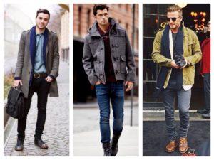 с чем носить джинсы мужчине зимой