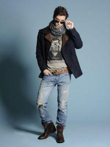 с чем носить рваные джинсы весной