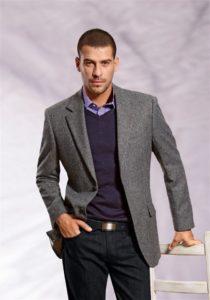 серый цвет в мужской одежде