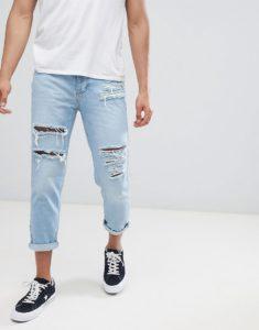 укороченные мужские джинсы