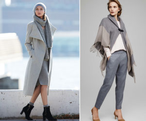 сочетание разных оттенков серого в одежде