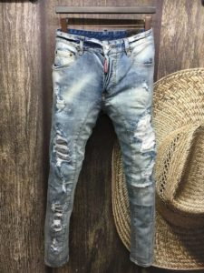 вареные рваные джинсы
