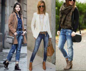 какую обувь носить с джинсами весной и зимой
