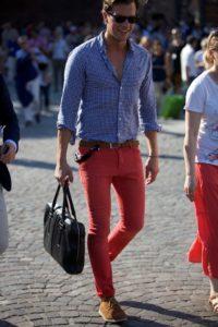 Синяя мужская рубашка-как разнообразить гардероб