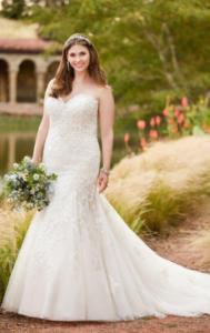 какие свадебные платья подходят полным