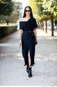 Девушка в черном платье: повседневный и деловой образ+100 фото