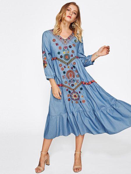 фасон платья бохо