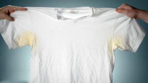 Как отстирать застарелые желтые пятна от пота с белой одежды быстро и эффективно в домашних условиях