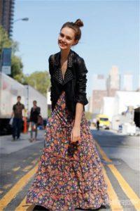 Платья макси с длинным рукавом: с чем носить