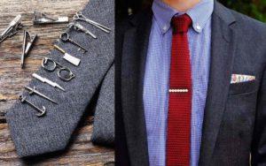 Зажим для галстука из золота и серебра: как выбрать