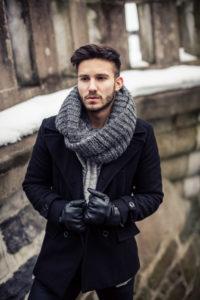 Как носят мужские шарфы