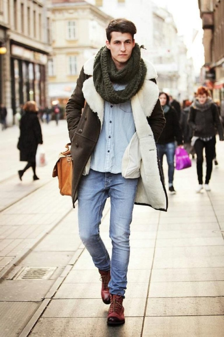 Фото как модно одеться зимой мужчине