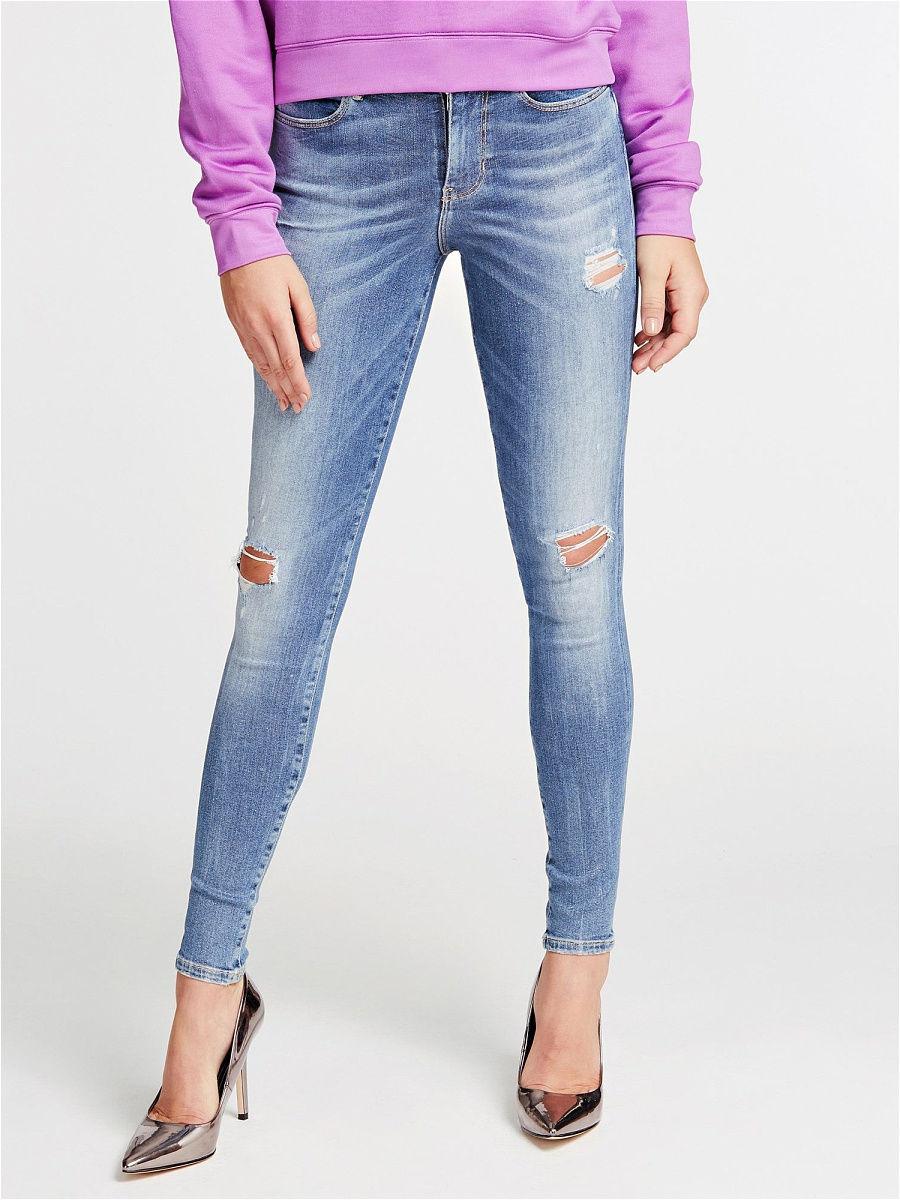 Лучшие женские рваные джинсы скинни