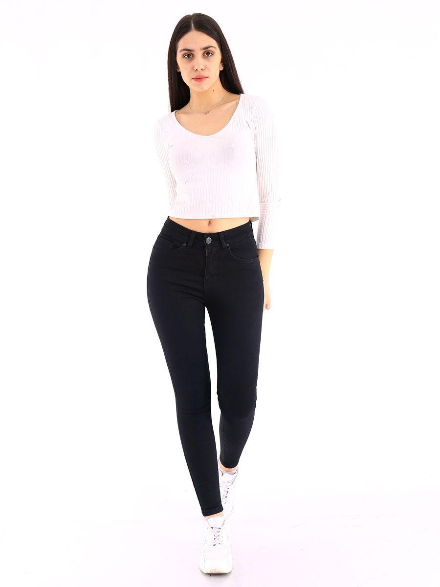 Лучшие женские черные узкие джинсы