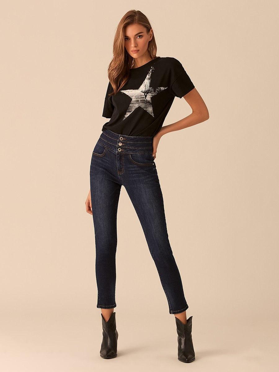 Лучшие женские темные узкие джинсы