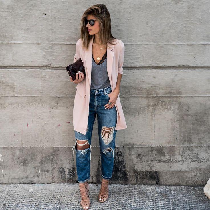 Лучшие женские рваные джинсы бойфренды