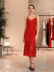 Лучшие кружевные миди платья