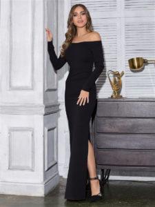 Лучшие черные вечерние длинные платья