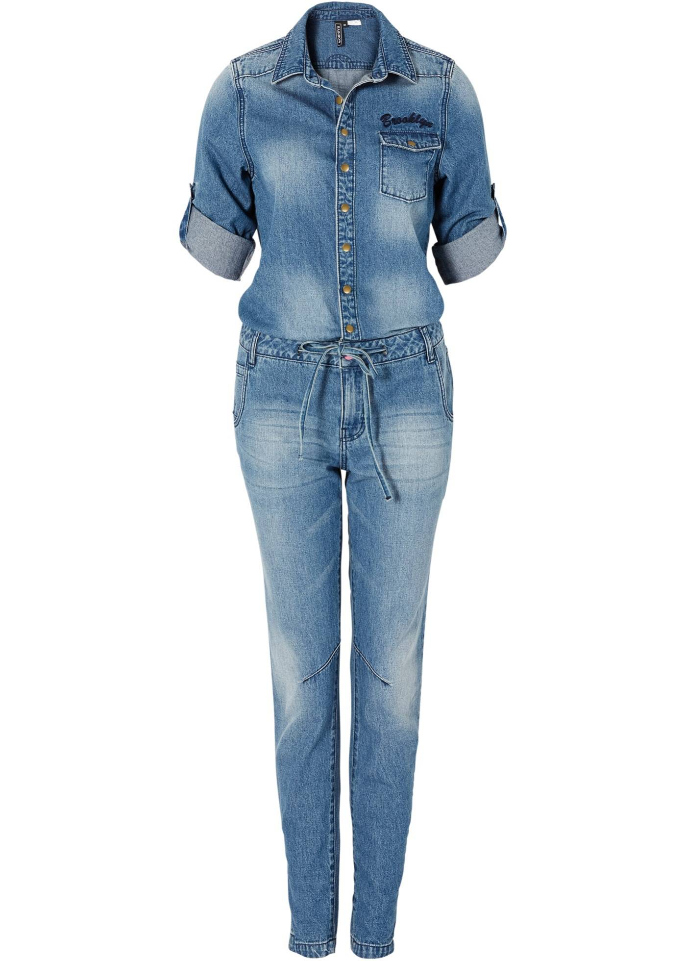 женских джинсовых комбинезонов