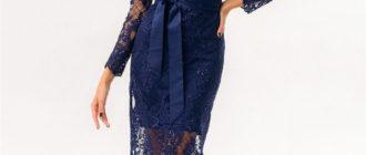 Топ 10 лучших кружевных миди платьев
