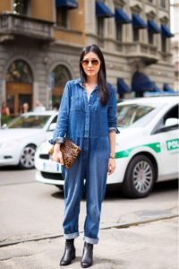 Лучшие  женские джинсовые комбинезоны