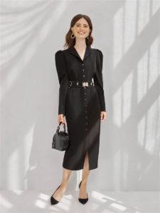 Лучшие черные офисные платья