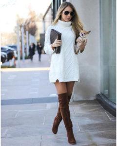 Лучшие  женские платья свитеры