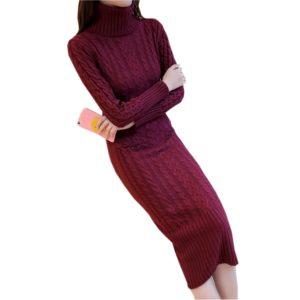Лучшие трикотажные  платья водолазки