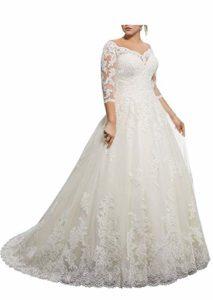Лучшие свадебные платья большого размера для полных женщин