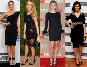 Идеи модных образов с черным цветом в одежде