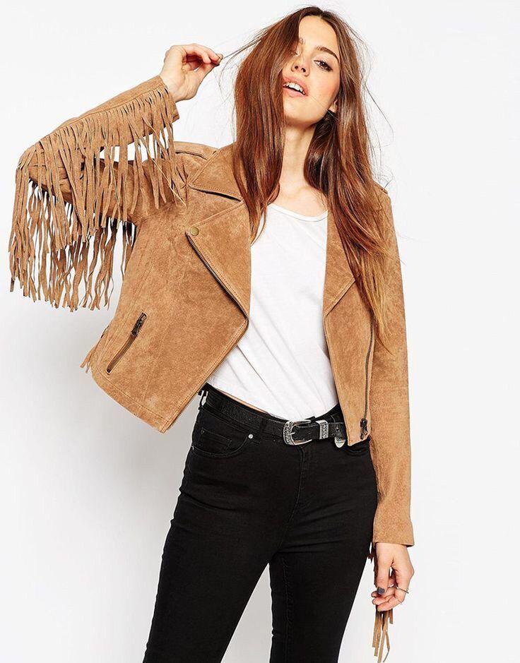 С чем носить женскую замшевую куртку