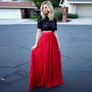 С чем носить юбку с высокой талией?