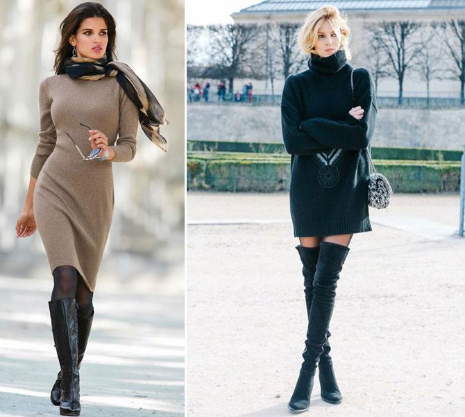 Какие Платья Носить Зимой