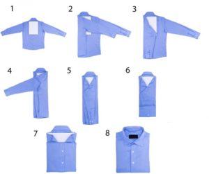 Как сложить рубашку чтобы не помялась