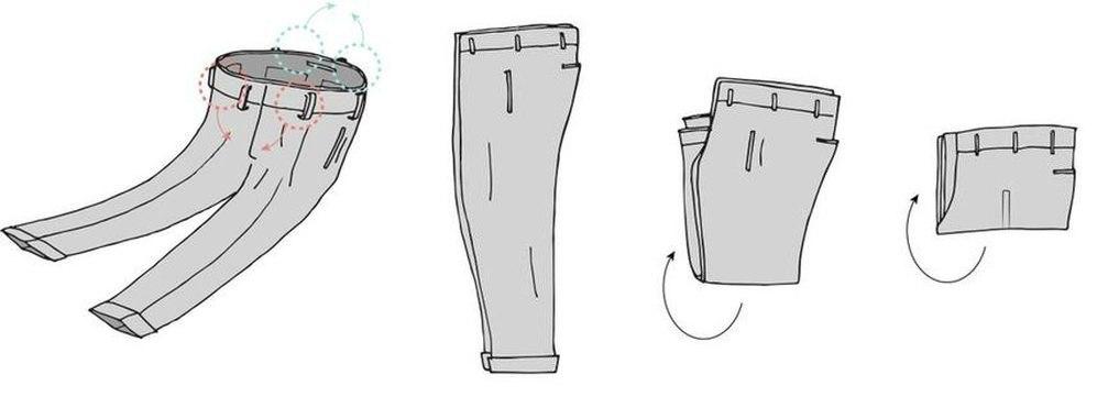 Как аккуратно сложить брюки в шкаф