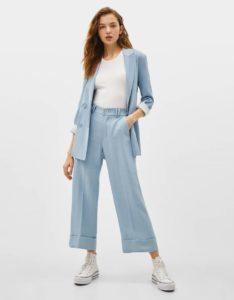 Что носить с  женскими  брюками палаццо с завышенной талией?